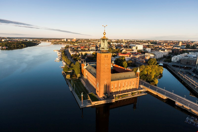 Scenic view of Stockholm City hall