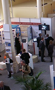 Exhibition area with exhibitors and visitors
